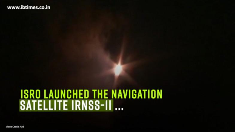 ISRO launched the navigation satellite IRNSS-1I