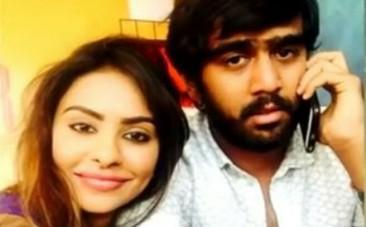 Sri Reddy and Abhiram Daggubati intimate photo