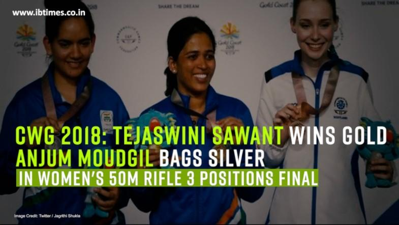 Tejaswini Sawant wins gold, Anjum Moudgil bags silver in Women's 50m Rifle 3 positions final
