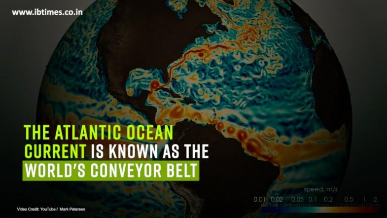 The Atlantic ocean current is known as the worlds conveyor belt