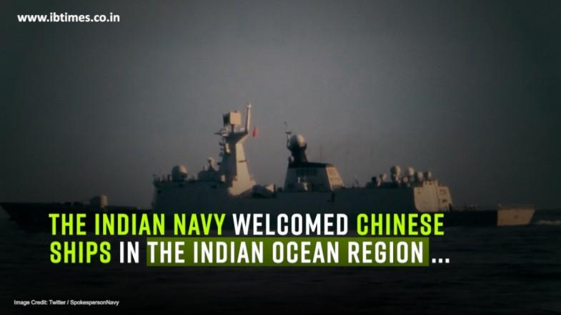 Indian Navy welcomes China to Indian Ocean