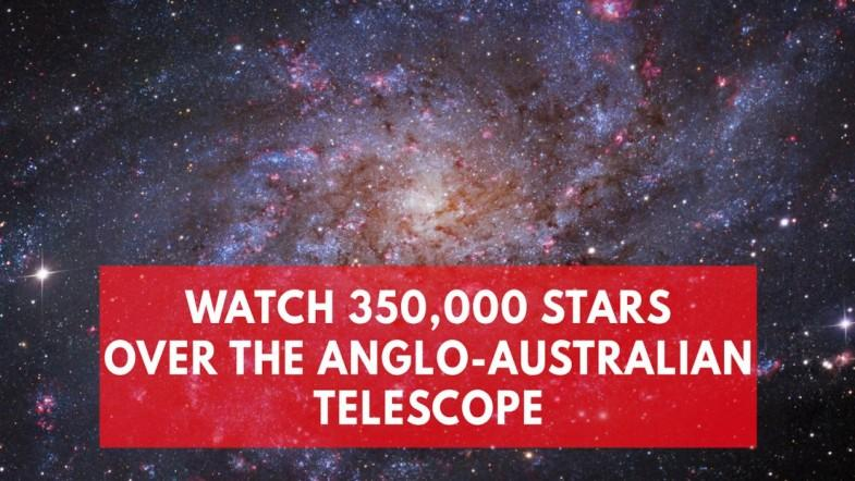 Watch 350,000 stars over the Anglo-Australian telescope