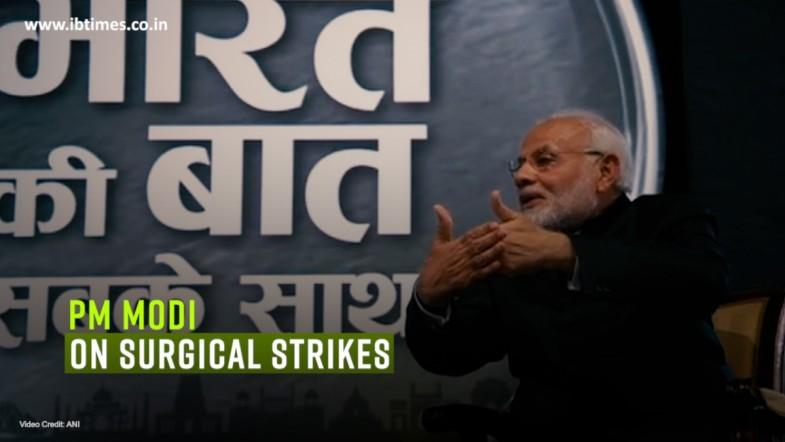 When someone makes attempts to attack us from the back, Modi knows how to answer in the same language: PM Modi on surgical strikes