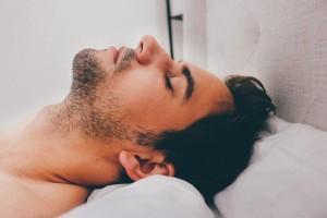 man sleep
