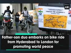 Father-son duo embarks on bike ride