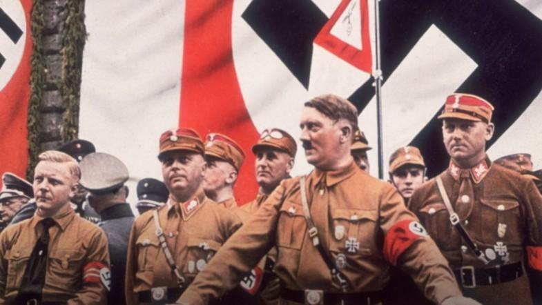 Neo-nazi group march in Georgia town to mark Hitlers birthday