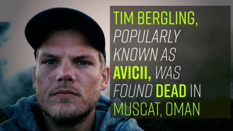 Tim Bergling, popularly known as Avicii, was found dead in Muscat, Oman.