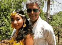 Milind Soman and Ankita Konwar having private wedding ceremony
