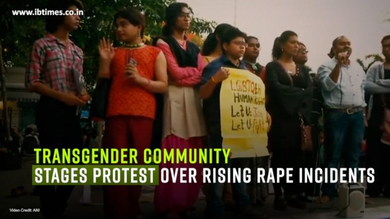 Transgender community stages protest over rising rape incidents