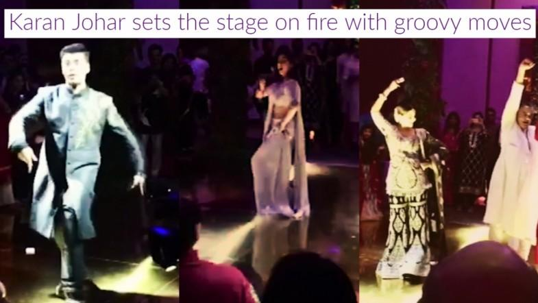 Karan Johar sets the stage on fire with groovy moves