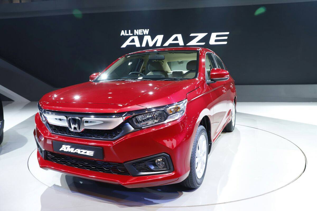 2018 Honda Amaze compact sedan launched at Rs 5.6 lakh in ...