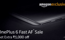 OnePlus 6, Fast AF sale, Amazon