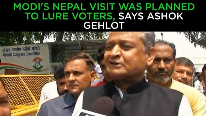 Modis Nepal visit was planned to lure voters, says Ashok Gehlot