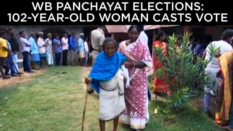 WB Panchayat elections: 102-year-old woman casts her vote