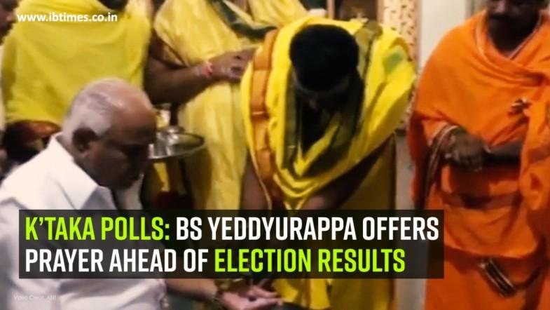 K'taka polls: BS Yeddyurappa offers prayer ahead of election results