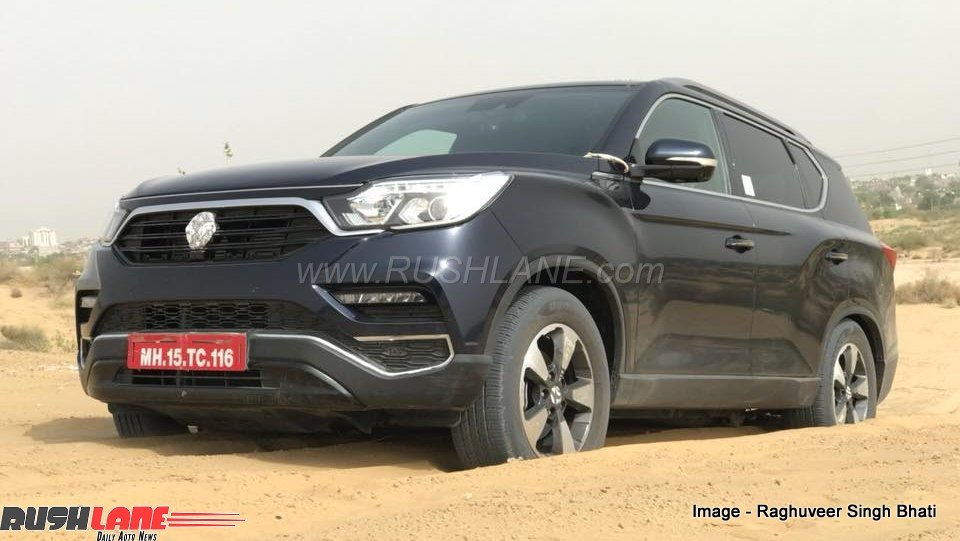 mahindra suv rebadged ssangyong rexton spotted testing  desert  rival toyota fortuner
