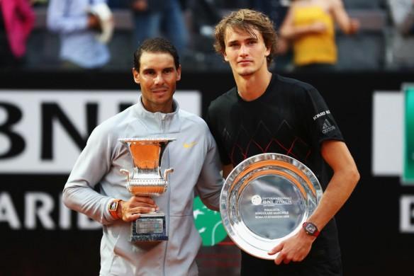 Rafael Nadal and Alexander Zverev