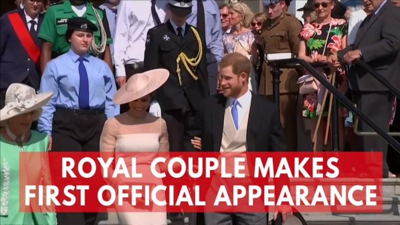 Meghan Markle Makes First Appearance With Prince Harry After Royal Wedding