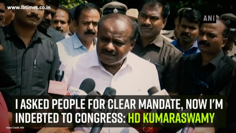 I asked people for clear mandate, now Im indebted to Congress: HD Kumaraswamy