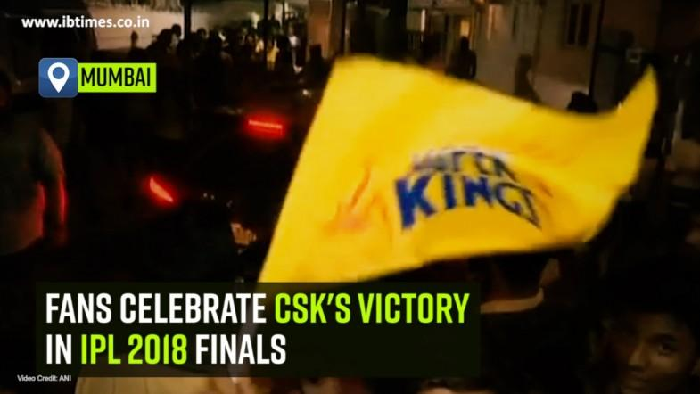 Fans celebrate CSKs victory in IPL 2018 finals