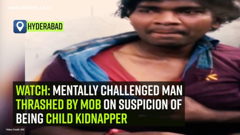 Watch: Mentally challenged man thrashed by mob on suspicion of being child kidnapper