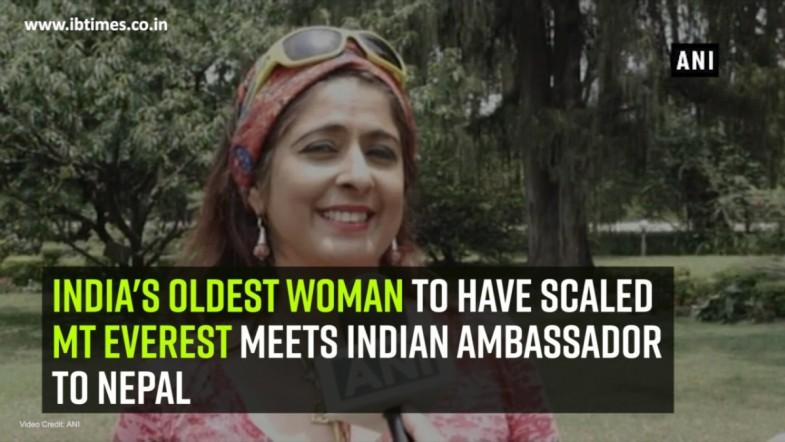 Indias oldest woman to have scaled Mt Everest meets Indian Ambassador to Nepal