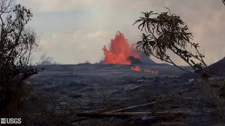 Watch: Mesmerizing Footage Of Fast Flowing Lava Flow From Kilauea Volcano