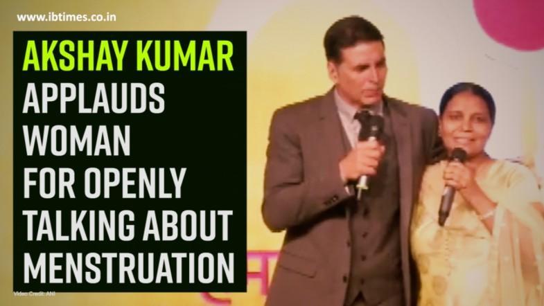 Akshay Kumar applauds woman for openly talking about menstruation