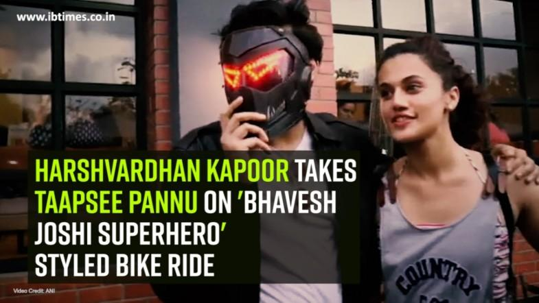 Harshvardhan Kapoor takes Taapsee Pannu on Bhavesh Joshi Superhero styled bike ride