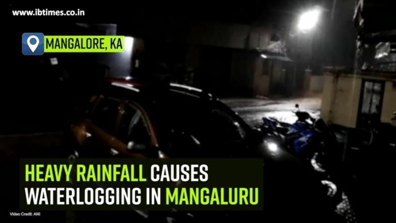 Heavy rainfall causes waterlogging in Mangaluru