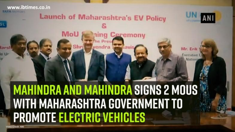 Mahindra and Mahindra signs 2 MoUs with Maharashtra Government to promote electric vehicles