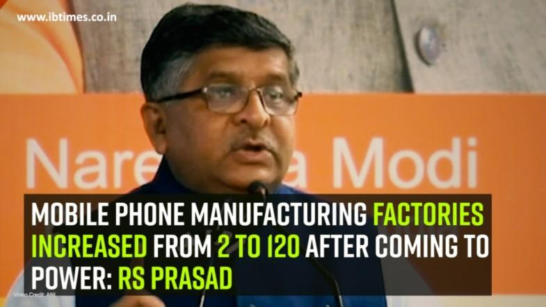 Mobile phone manufacturing factories increased from 2 to 120 after coming to power: RS Prasad