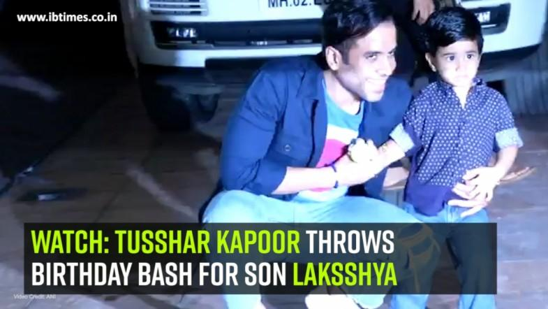 Watch: Tusshar Kapoor throws birthday bash for son Laksshya