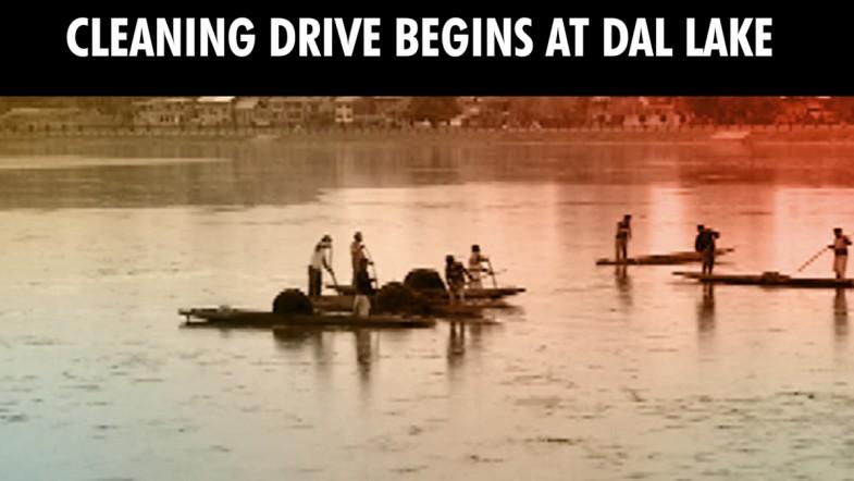 Cleaning drive begins at world famous Dal Lake, J and K