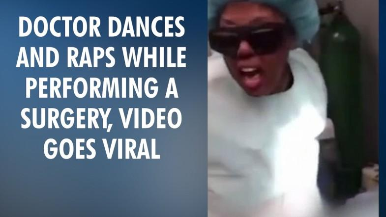 Doctor dancing while performing a surgery!