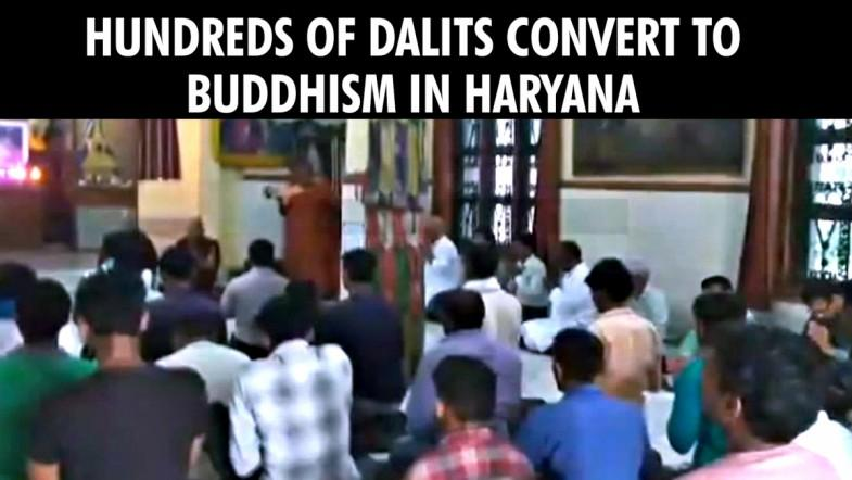 Hundreds of Dalits convert to Buddhism in Haryana