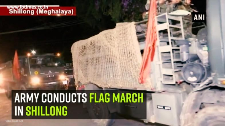Army conducts flag march in Shillong