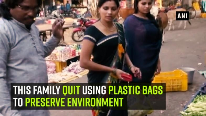 This family quit using plastic bags to preserve environment