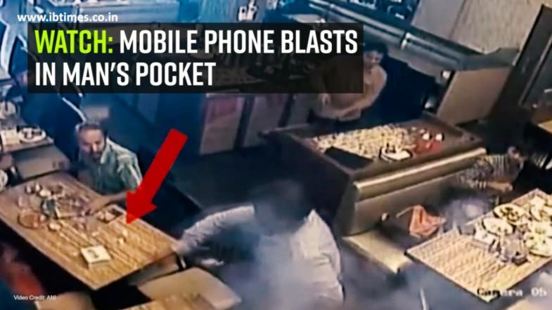 Watch: Mobile phone blasts in mans pocket