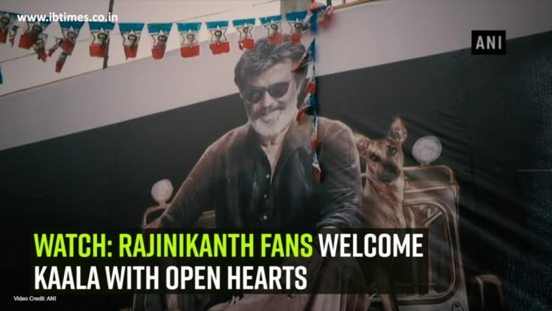 Watch: Rajinikanth fans welcome Kaala with open hearts