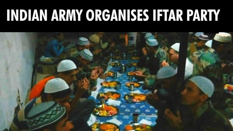 Indian Army organises iftar party in Poonch