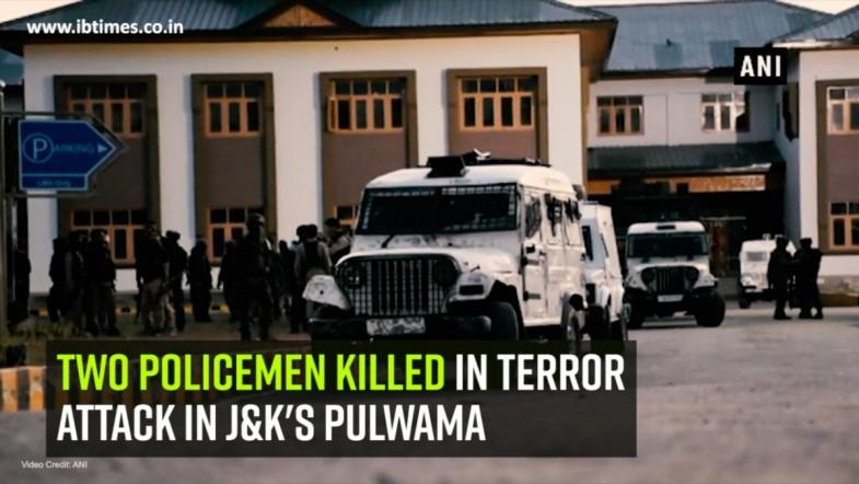 Two policemen killed in terror attack in JandKs Pulwama