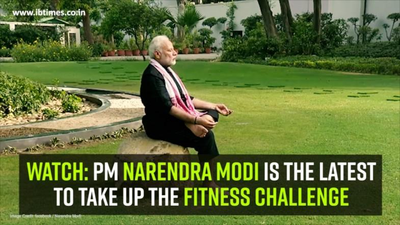 Watch: PM Narendra Modi is the latest to take up the fitness challenge