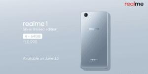 Oppo, realme 1, MediaTek Helio P60, silver, limited edition