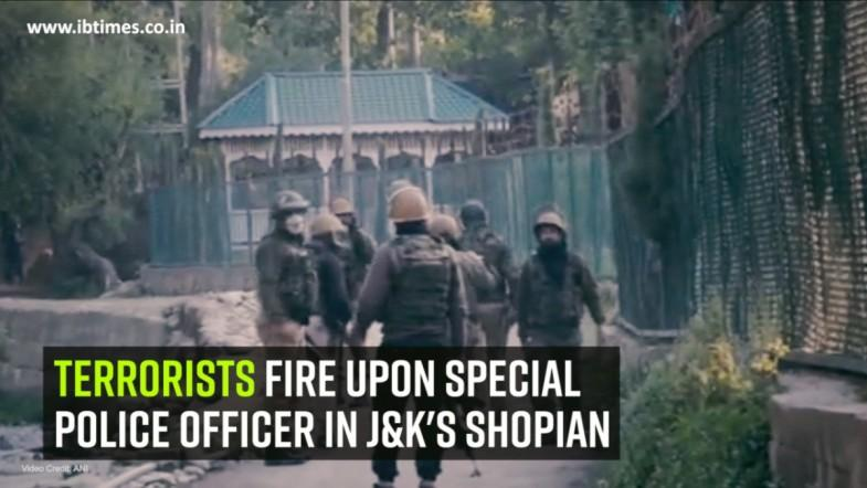 Terrorists fire upon special police officer in J and Ks Shopian
