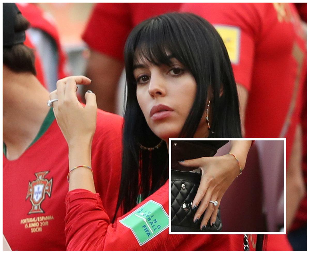 Is Cristiano Ronaldo Engaged Girlfriend Georgina Rodriguez Flashes Huge Ring At World Cup Photos Ibtimes India