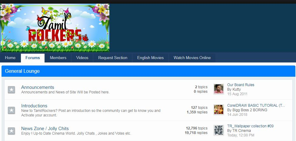 Tamil Rockers Website: 20 Domains Linked To Notorious
