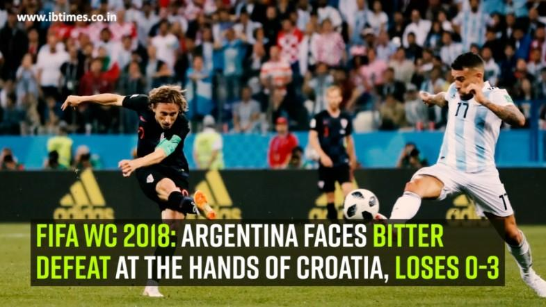 FIFA WC 2018: Argentina faces bitter defeat at the hands of Croatia, loses 0-3