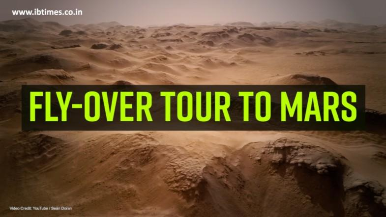 Fly-over tour to mars