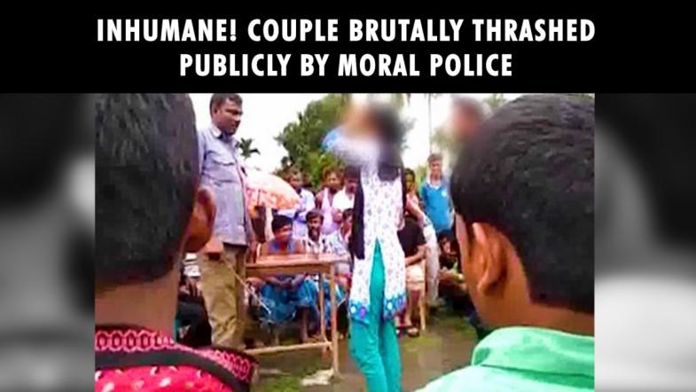 Inhumane! Couple brutally thrashed by moral police